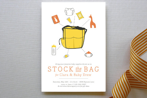 Stock the Bag Baby Shower Invitations
