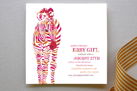 Baby Z Baby Shower Invitations