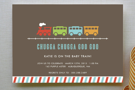 Chugga Chugga Goo Goo Baby Shower Invitations