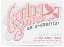 Coming Soon Baby Shower Invitations