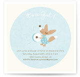 Drum Away Baby Shower Invitations