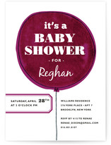 The Balloon Baby Shower Invitations