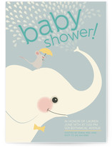 Elephant Showers Baby Shower Invitations