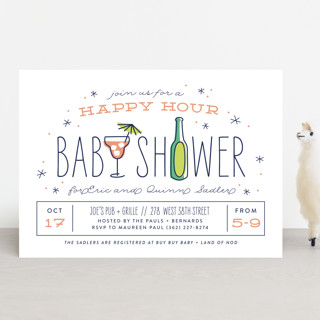 happy hour Baby Shower Invitations