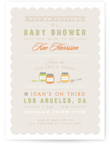 Eats & Treats Baby Shower Invitations