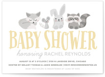 Woodland Buddies Baby Shower Invitations