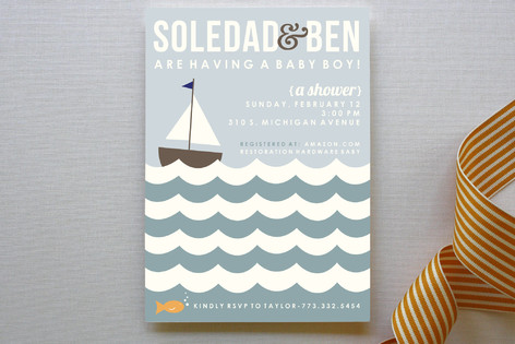 Baby Boat Baby Shower Invitations