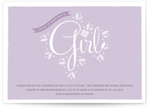 New Blooms Baby Shower Invitations