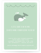 The Arrival of a Little Squirt Baby Shower Invitations