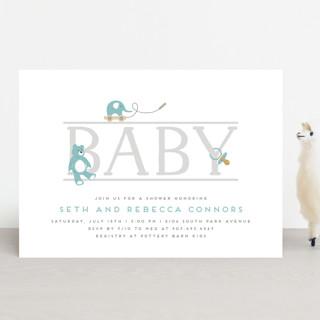 baby serif Baby Shower Invitations