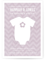 Adopting a Baby Girl Baby Shower Invitations