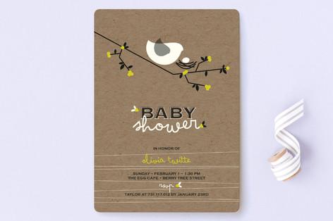 Nesting bird baby shower invitations by fatfatin minted nesting bird baby shower invitations filmwisefo