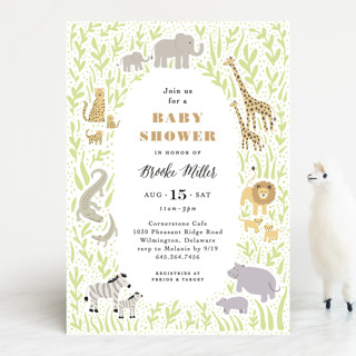 Savannah animals Baby Shower Invitations