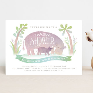 Baby hippo Baby Shower Invitations