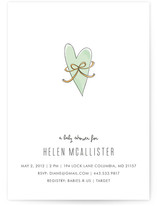 Heart &amp; Bow Baby Shower Invitations