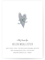 Heart & Bow Baby Shower Invitations