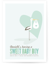 Sweet Delivery Baby Shower Invitations