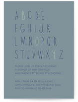Letter Boy Baby Shower Invitations