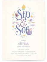 Sweet Sip &amp; See Baby Shower Invitations