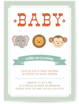 Little Wild One Baby Shower Invitations