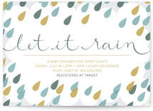 Let It Rain Baby Shower Invitations