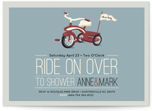 Ride On Over Baby Shower Invitations