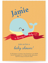 Havin&#039; A Whale Of A Time Baby Shower Invitations
