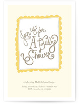 Stitched Blankie Baby Shower Invitations