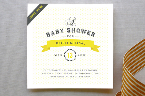 Bon Vivant Baby Shower Invitations