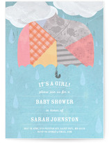 Rainy Day Baby Shower Invitations