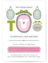 Family Picture Wall Baby Shower Invitations