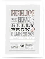Jumping Jelly Bean Baby Shower Invitations