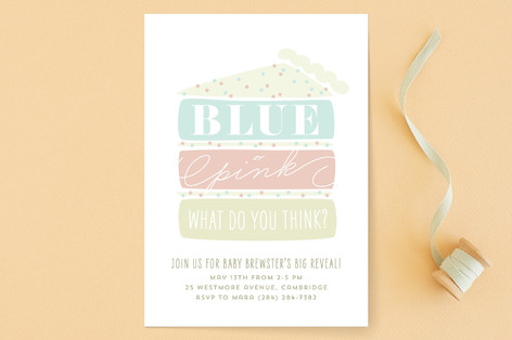 Layer Cake Reveal Baby Shower Invitations