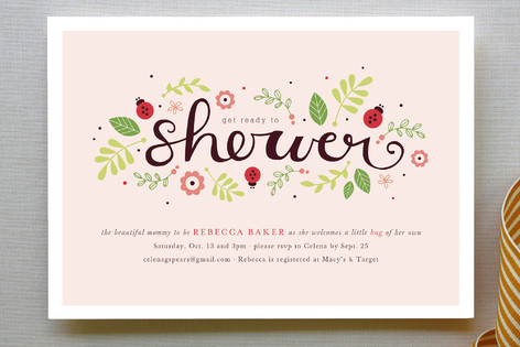Ladybug Love Baby Shower Invitations