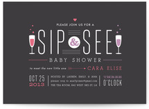 Sip Sip Hooray Baby Shower Invitations