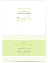 Mod Mobile Baby Shower Invitations