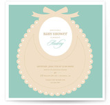 Bib Baby Shower Invitations