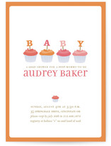 Cupcake Baby Shower Invitations