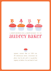Cupcake Baby Shower Invitation by Pottsdesign