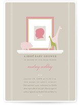 Baby Silhouette Baby Shower Invitations