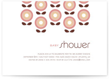Stitched Flowers Baby Shower Invitations