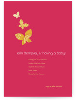 Monarch Flutter Baby Shower Invitations