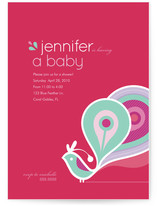 Party Peacock Baby Shower Invitations