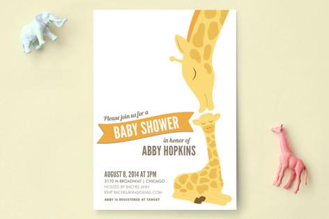Lovely giraffe baby shower invitations by jessie s minted lovely giraffe baby shower invitations filmwisefo