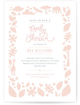 Petite Jungle Frame Baby Shower Invitations