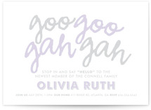 Goo Goo Baby Shower Invitations