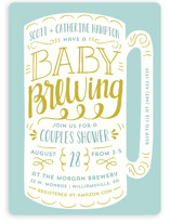 Baby Brewing Baby Shower Invitations