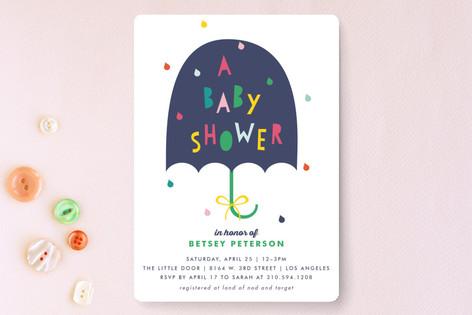 Rainbow Pop Baby Shower Invitations