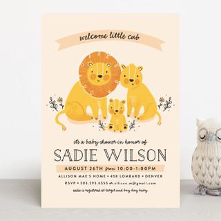 Little Cub Baby Shower Invitations
