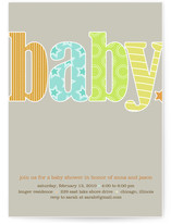 Baby Bright Baby Shower Invitations